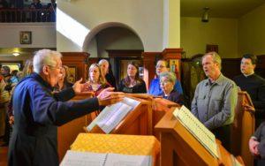 Choir Director Bob Parent in action